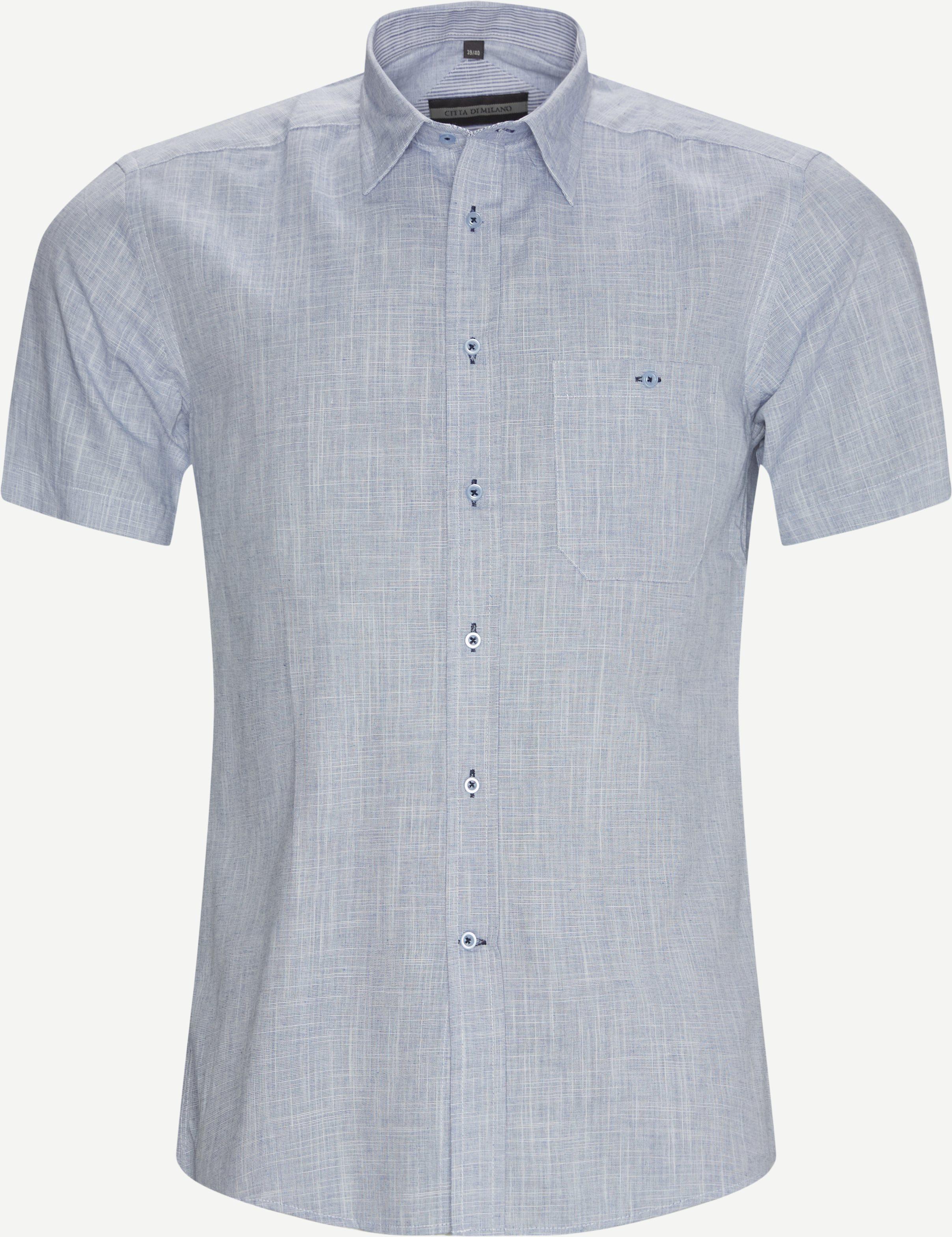 Lausanne K/Æ Skjorte - Kortærmede skjorter - Regular fit - Blå
