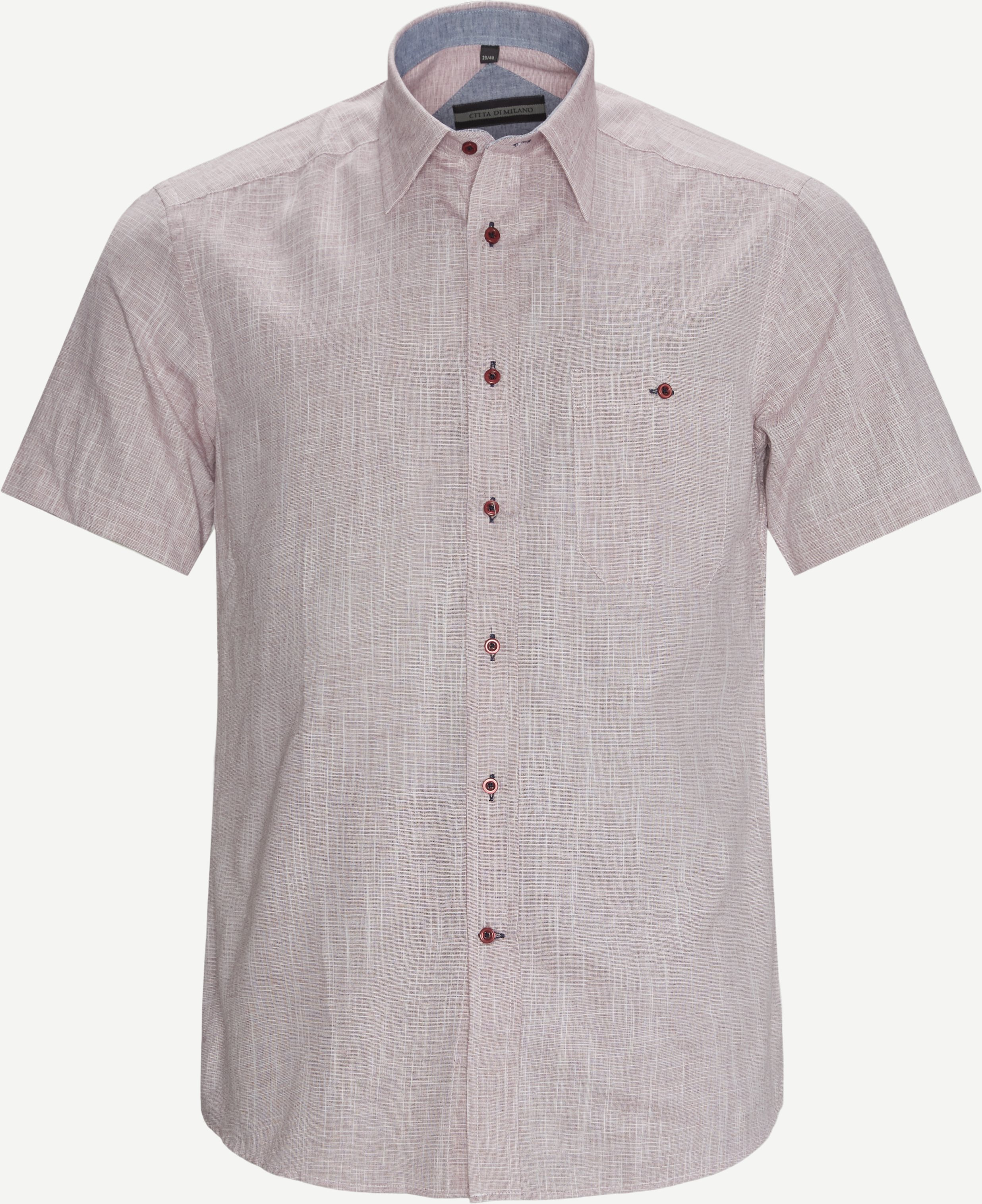 Kurzärmlige Hemden - Regular fit - Rot