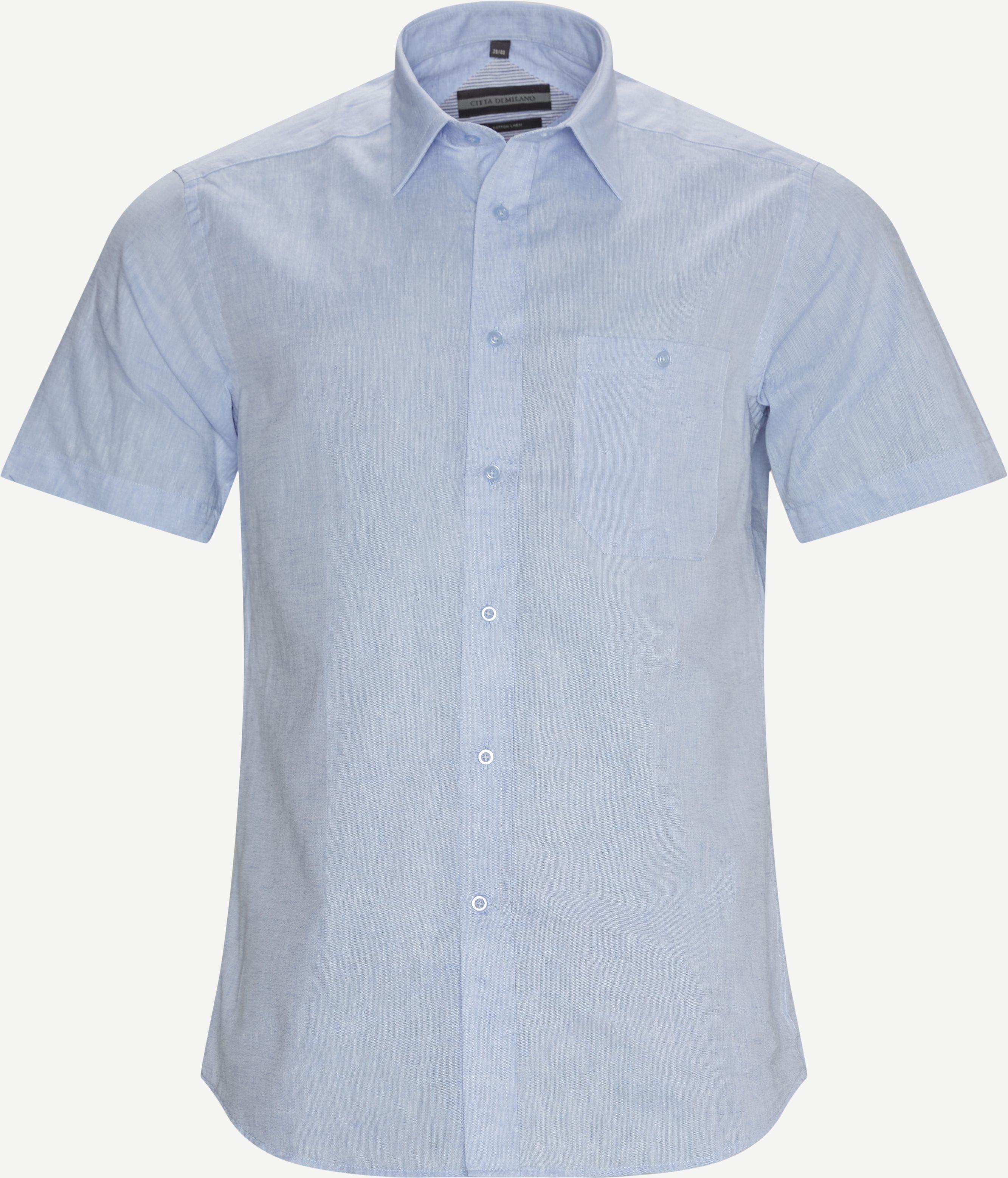 Montreux K/Æ Skjorte - Kortärmade skjortor - Regular fit - Blå