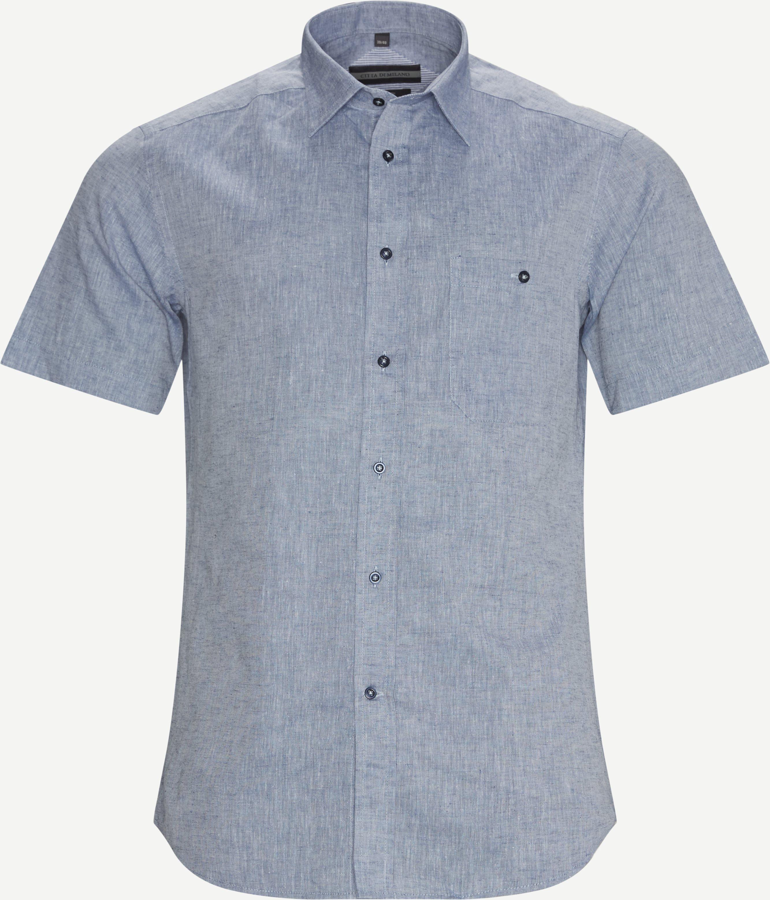 Montreux K/Æ Skjorte - Short-sleeved shirts - Regular fit - Blue