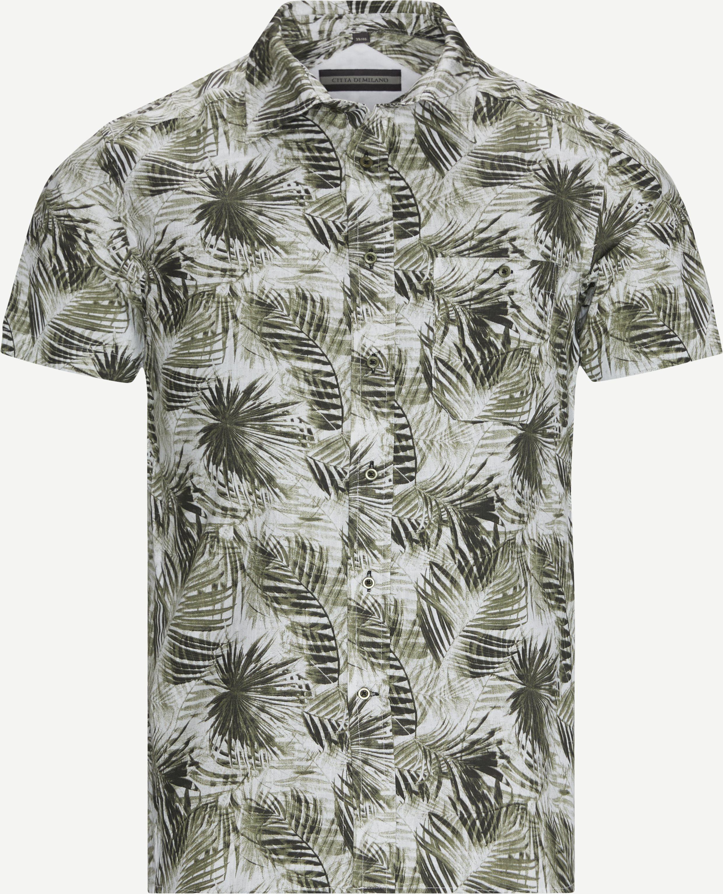Gallen K/Æ Skjorte - Kortärmade skjortor - Regular fit - Armé