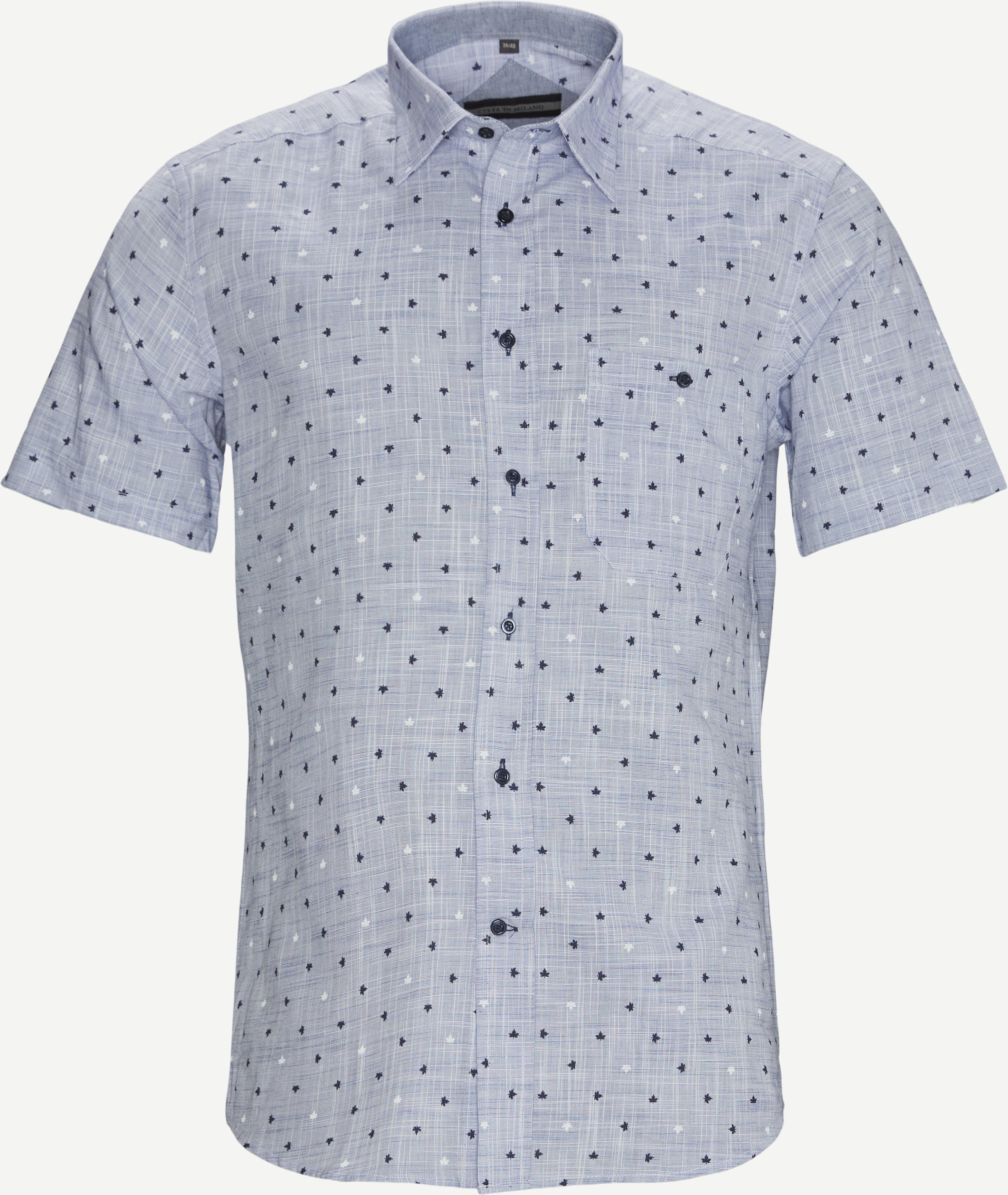 Kurzärmlige Hemden - Regular fit - Blau