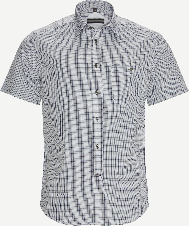 Thun K/Æ Skjorte - Kortärmade skjortor - Regular fit - Grå