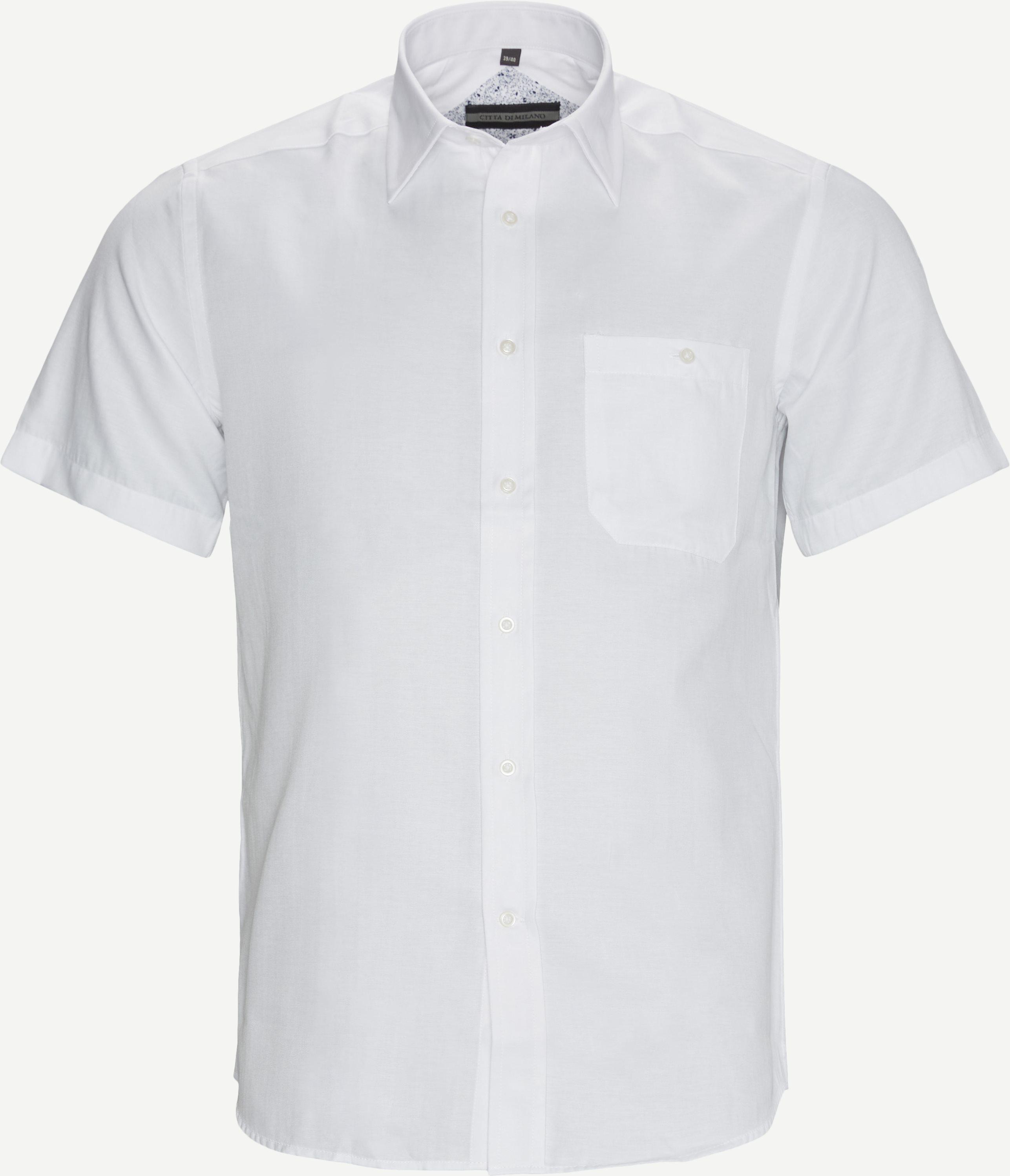 Kurzärmlige Hemden - Regular fit - Weiß