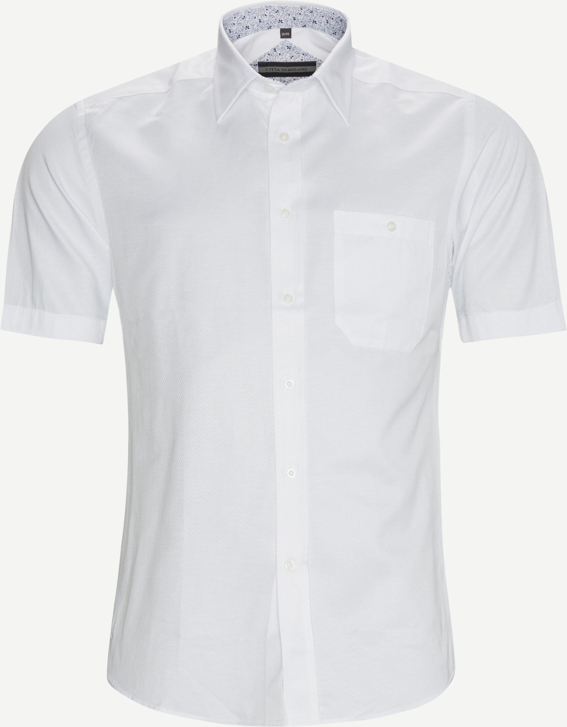 Bergenz K/Æ Skjorte - Kortärmade skjortor - Regular fit - Vit