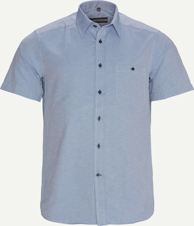 Melk K/Æ Skjorte - Kortärmade skjortor - Regular fit - Blå