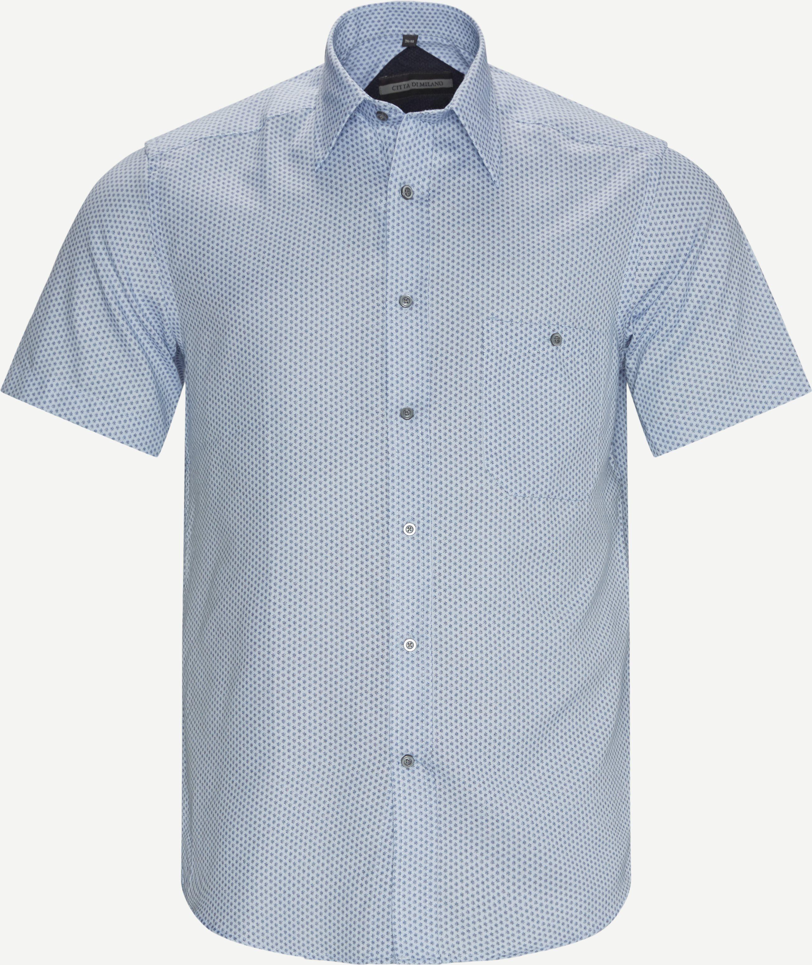 Tavern K/Æ Skjorte - Short-sleeved shirts - Regular fit - Blue