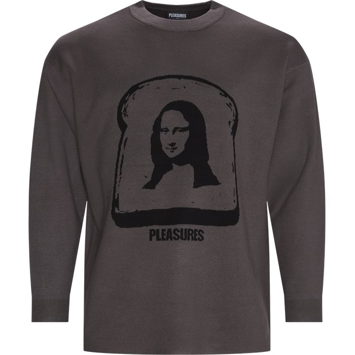 Mona Knit Crewneck Sweatshirt - Sweatshirts - Regular - Grey