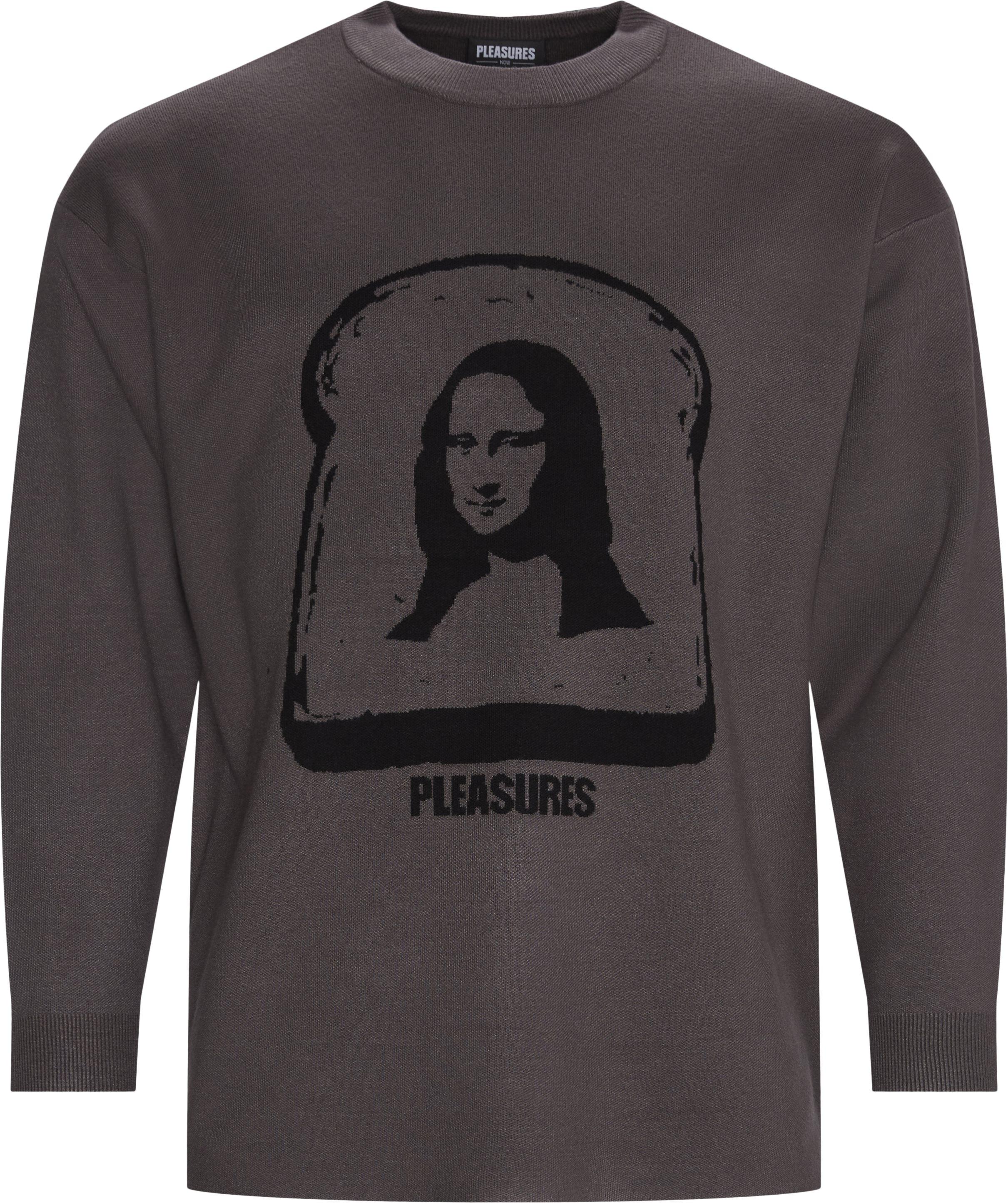 Mona Knit Crewneck Sweatshirt - Sweatshirts - Regular - Grå