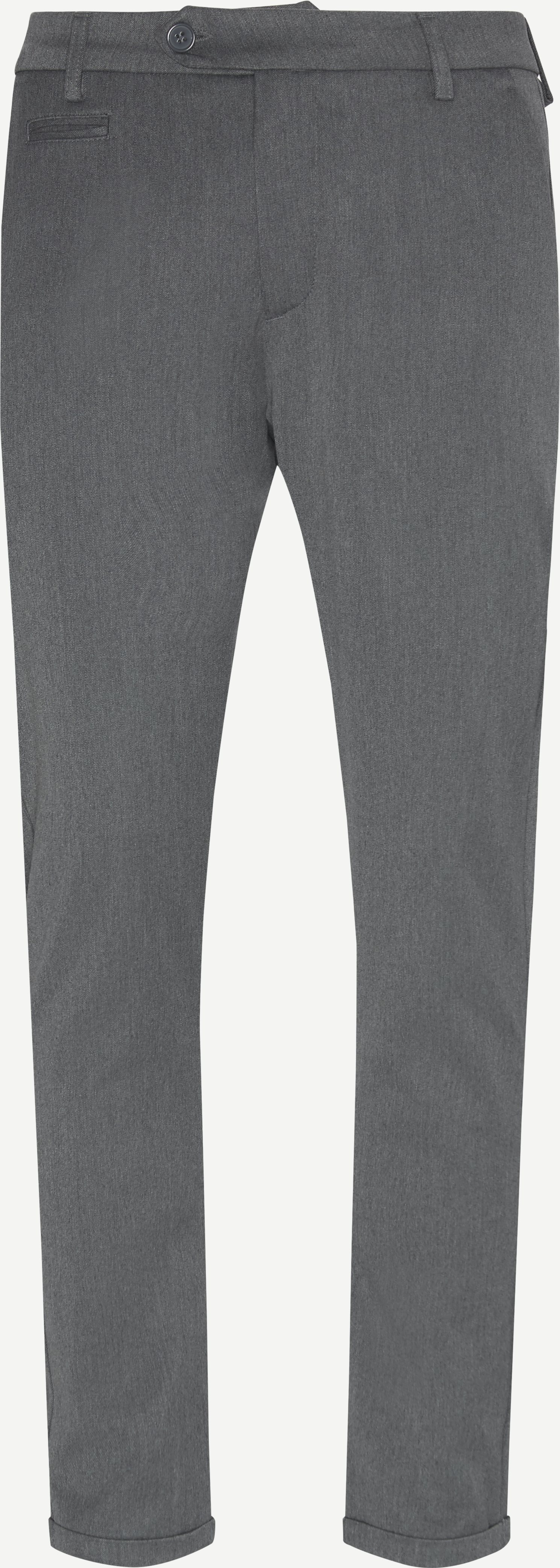 Trousers - Slim fit - Grey