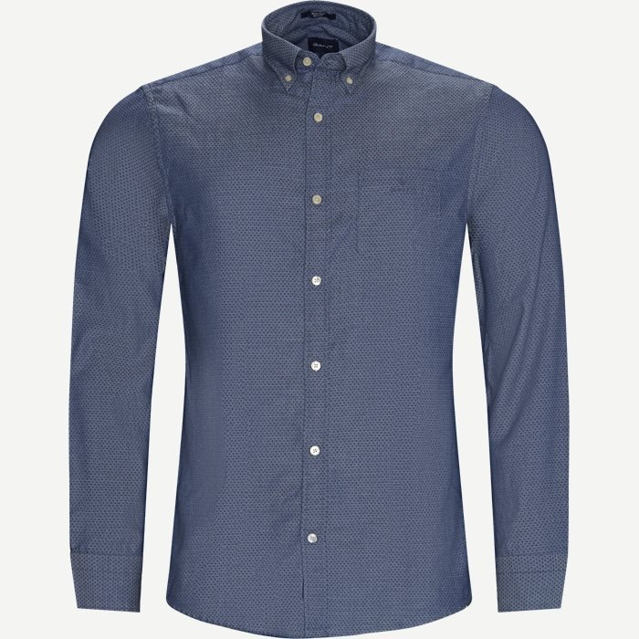 TP Indigo Dobby Reg Shirt - Skjorter - Regular - Blå