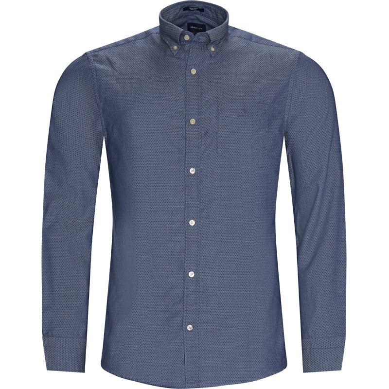 gant Gant - 3029630 d2 tp indigo dobby reg skjorter fra kaufmann.dk