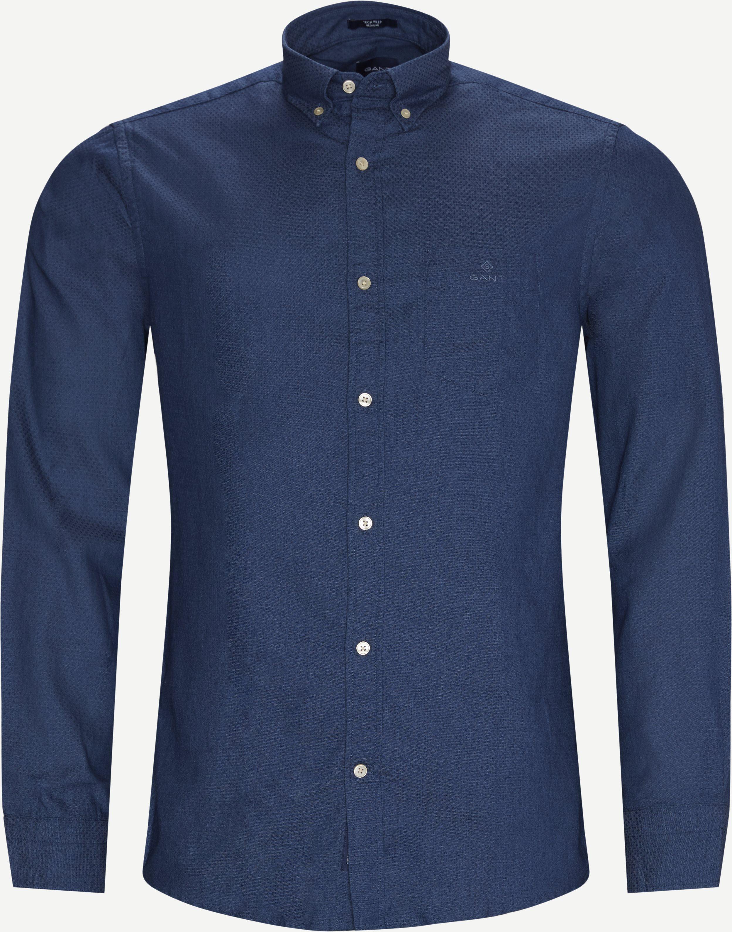 TP Indigo Dobby Reg Shirt - Skjortor - Regular - Blå
