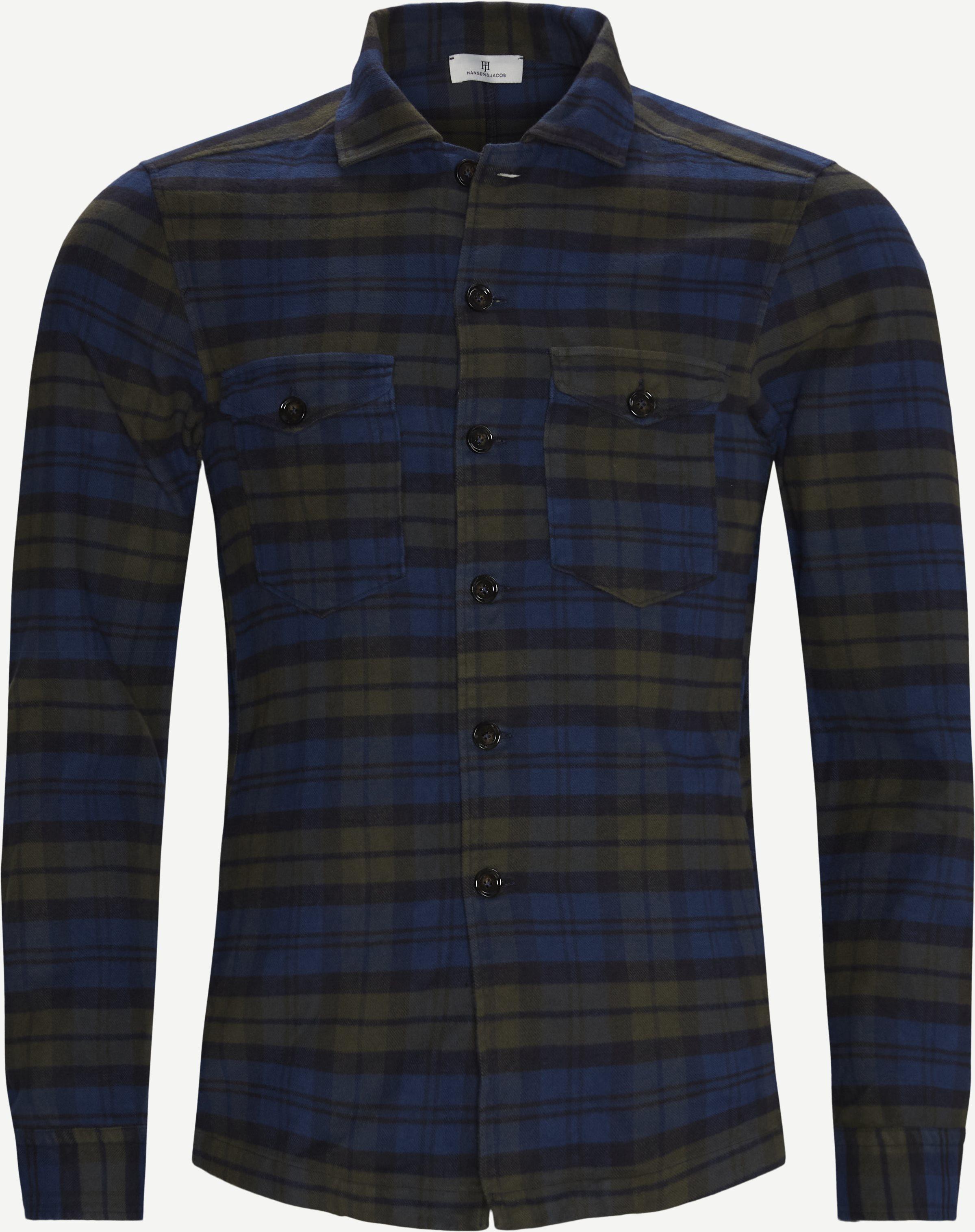 Spitalfield Overjacket - Skjortor - Regular - Blå