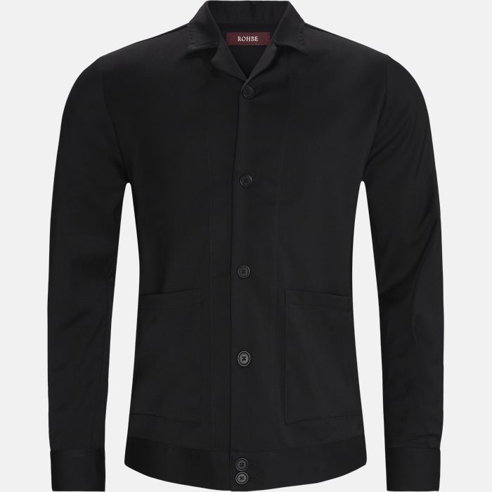 Plain shirts - Regular - Black