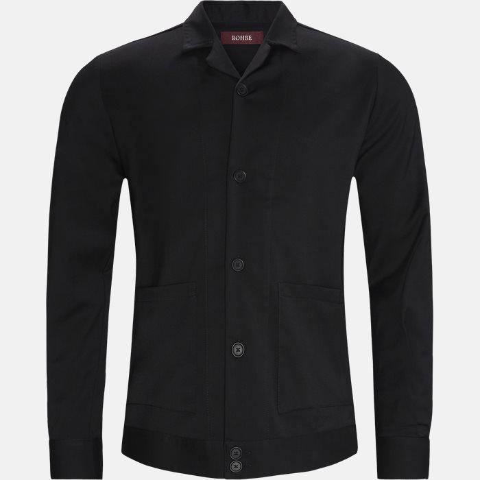 Hudson Skjorte - Ensfarvede skjorter - Regular - Sort