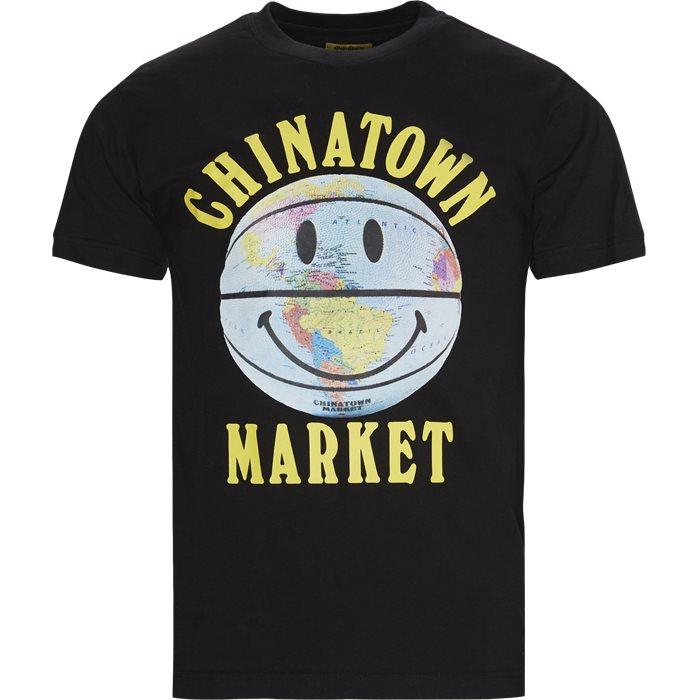 Smiley Globe Ball Tee - T-shirts - Regular - Svart