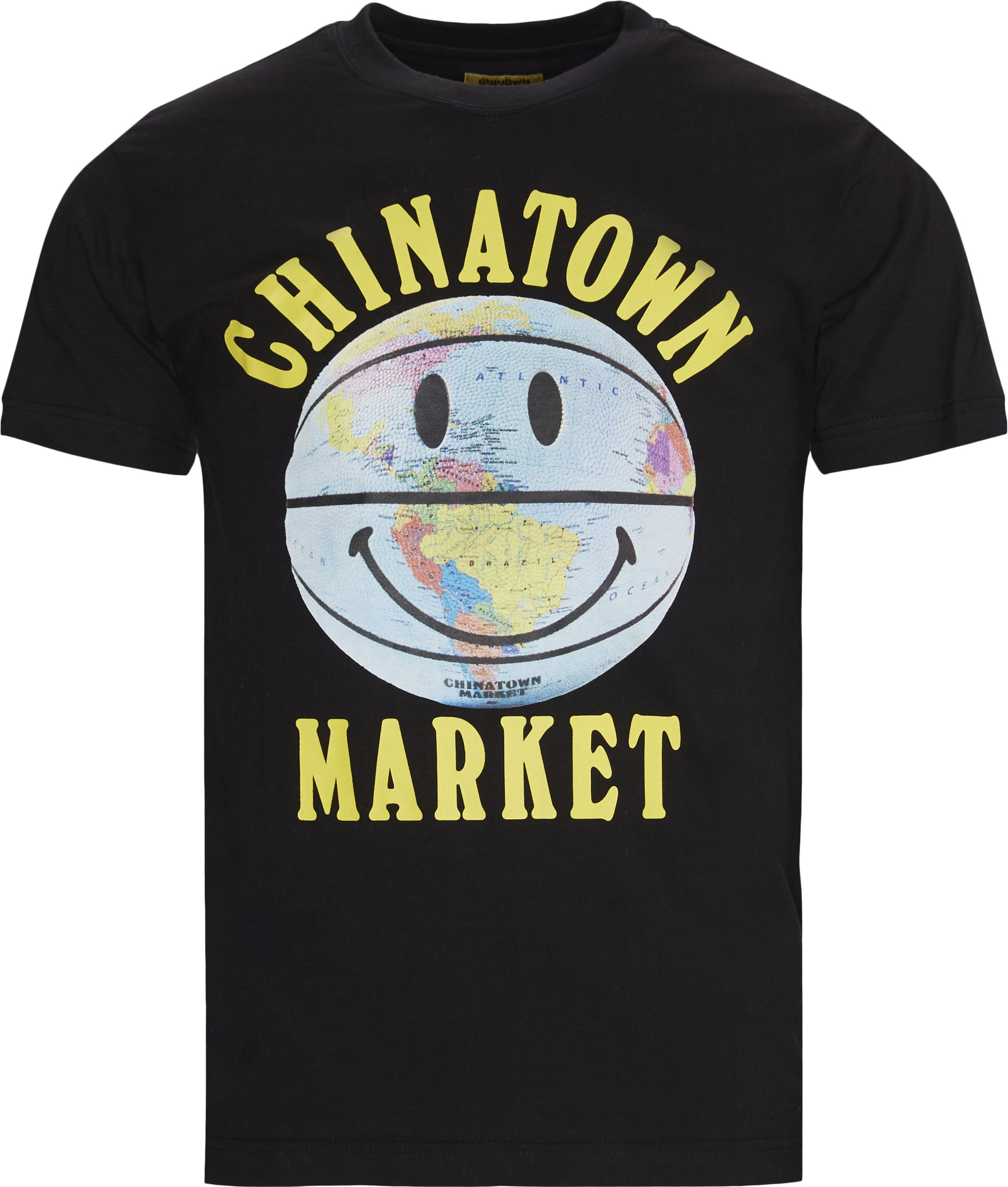 Smiley Globe Ball Tee - T-shirts - Regular - Black