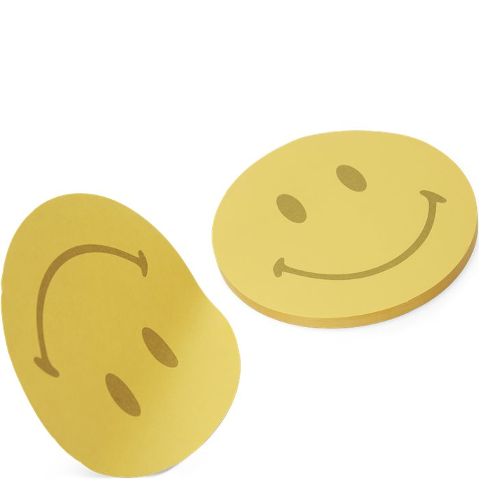 Smiley Post It Note Pad  - Accessories - Gul