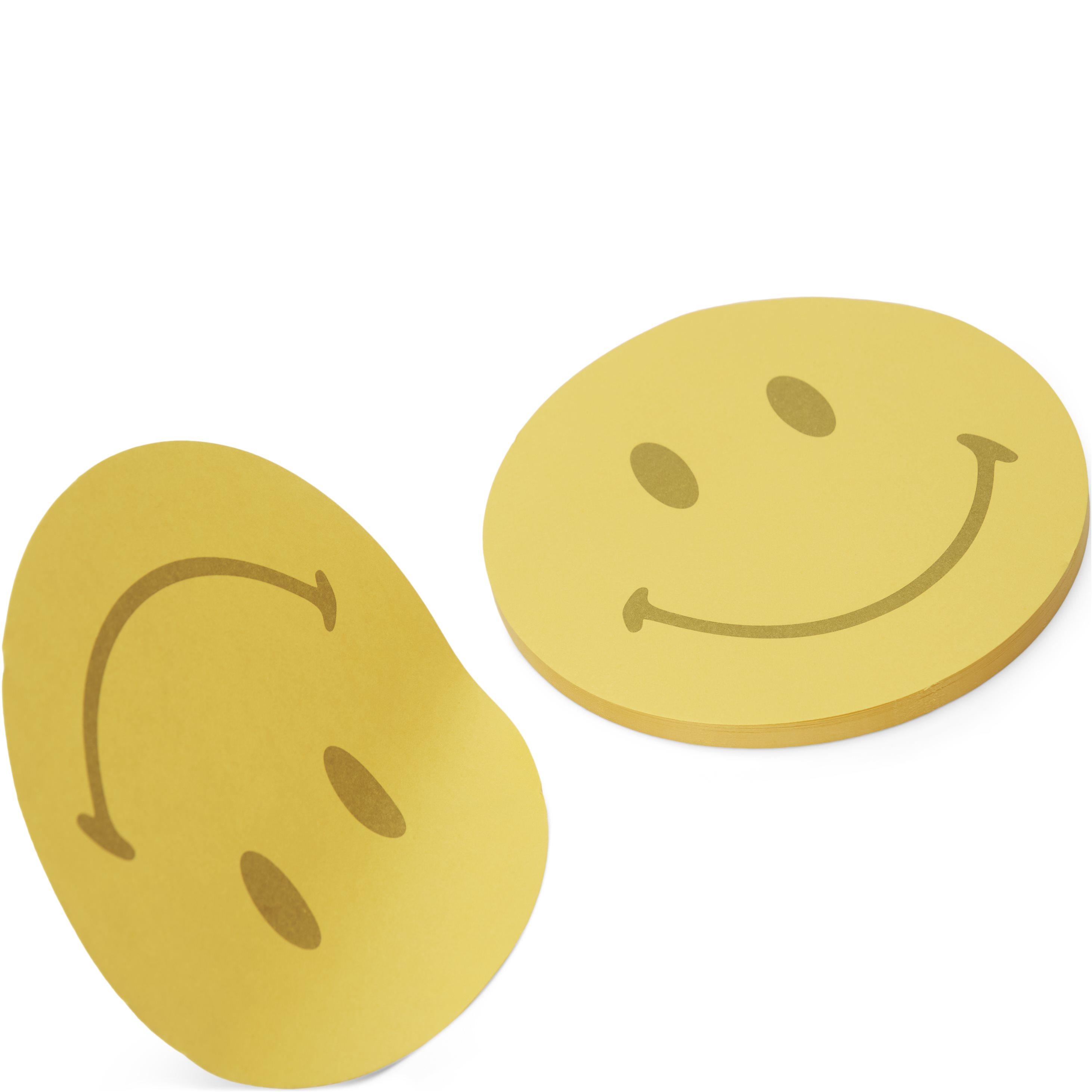 Smiley Post It Note Pad  - Accessoarer - Gul