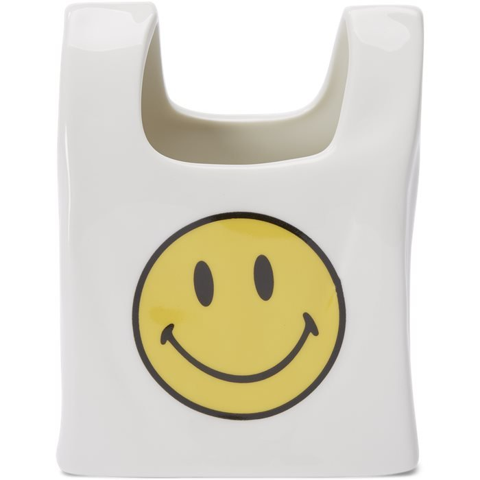 Smiley Ceramic Pen Holder - Accessoarer - Gul