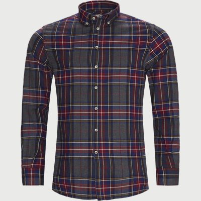 Polar Melange Multi Shirt Casual fit | Polar Melange Multi Shirt | Rød