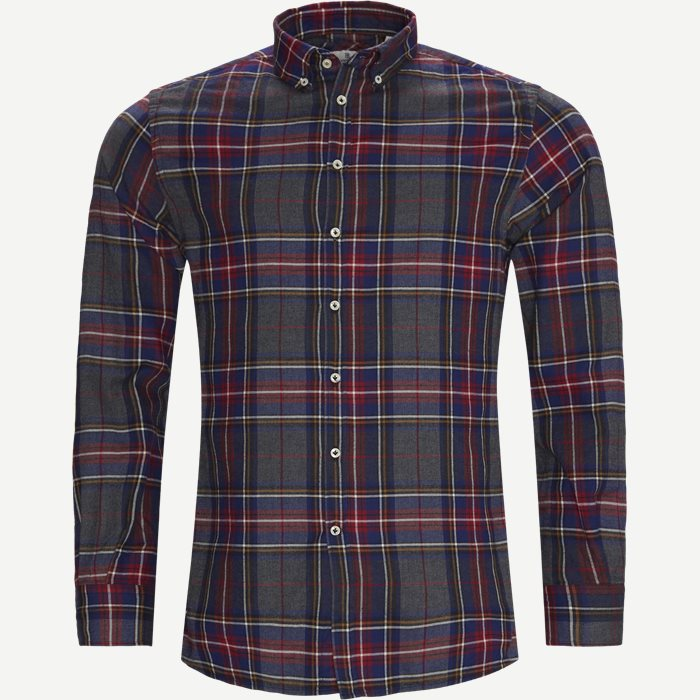 Polar Melange Multi Shirt - Skjortor - Casual fit - Röd