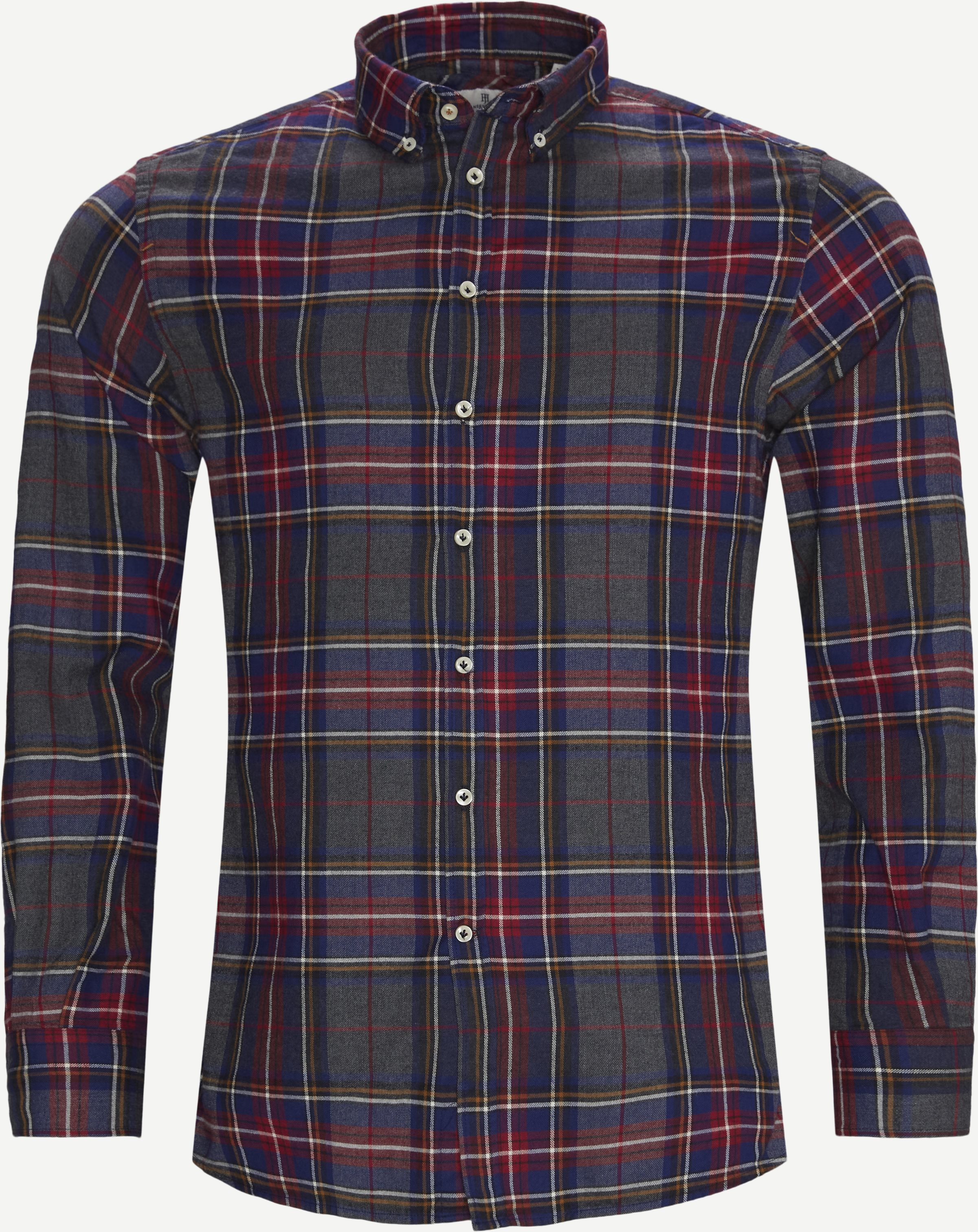 Polar Melange Multi Shirt - Shirts - Casual fit - Red