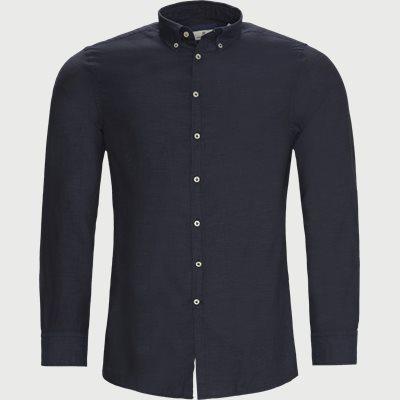 Solid Melange Flanel Shirt Casual fit | Solid Melange Flanel Shirt | Blå