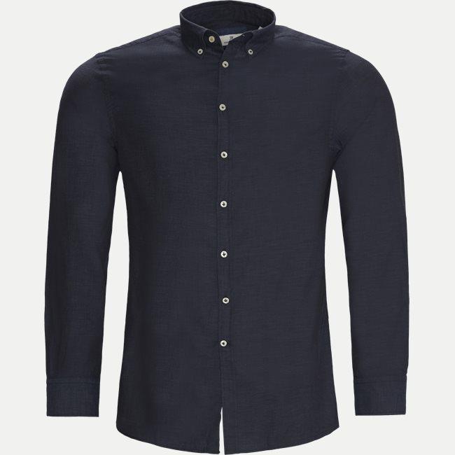 Solid Melange Flanel Shirt