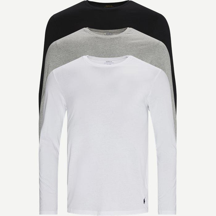 3-pack Long Sleeve Classic Crew T-shirt - T-shirts - Regular - Multi
