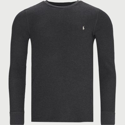 Waffle Crew Neck Long Sleeve Regular | Waffle Crew Neck Long Sleeve | Grey
