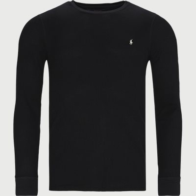 Waffle Crew Neck Long Sleeve Regular | Waffle Crew Neck Long Sleeve | Black
