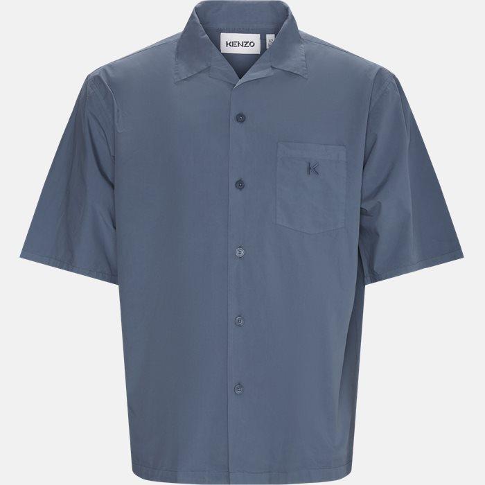 Short-sleeved shirts - Oversize fit - Blue