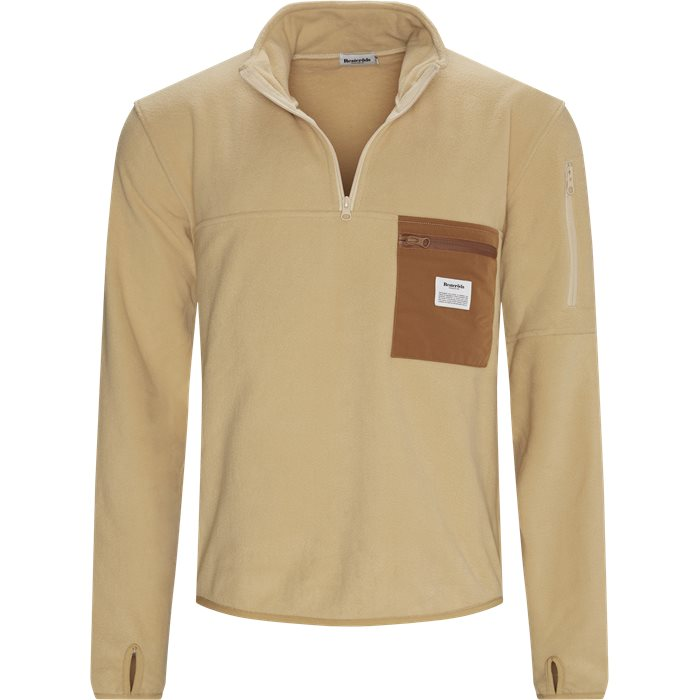 Pullover Fleece Anorak - Jackor - Regular - Sand