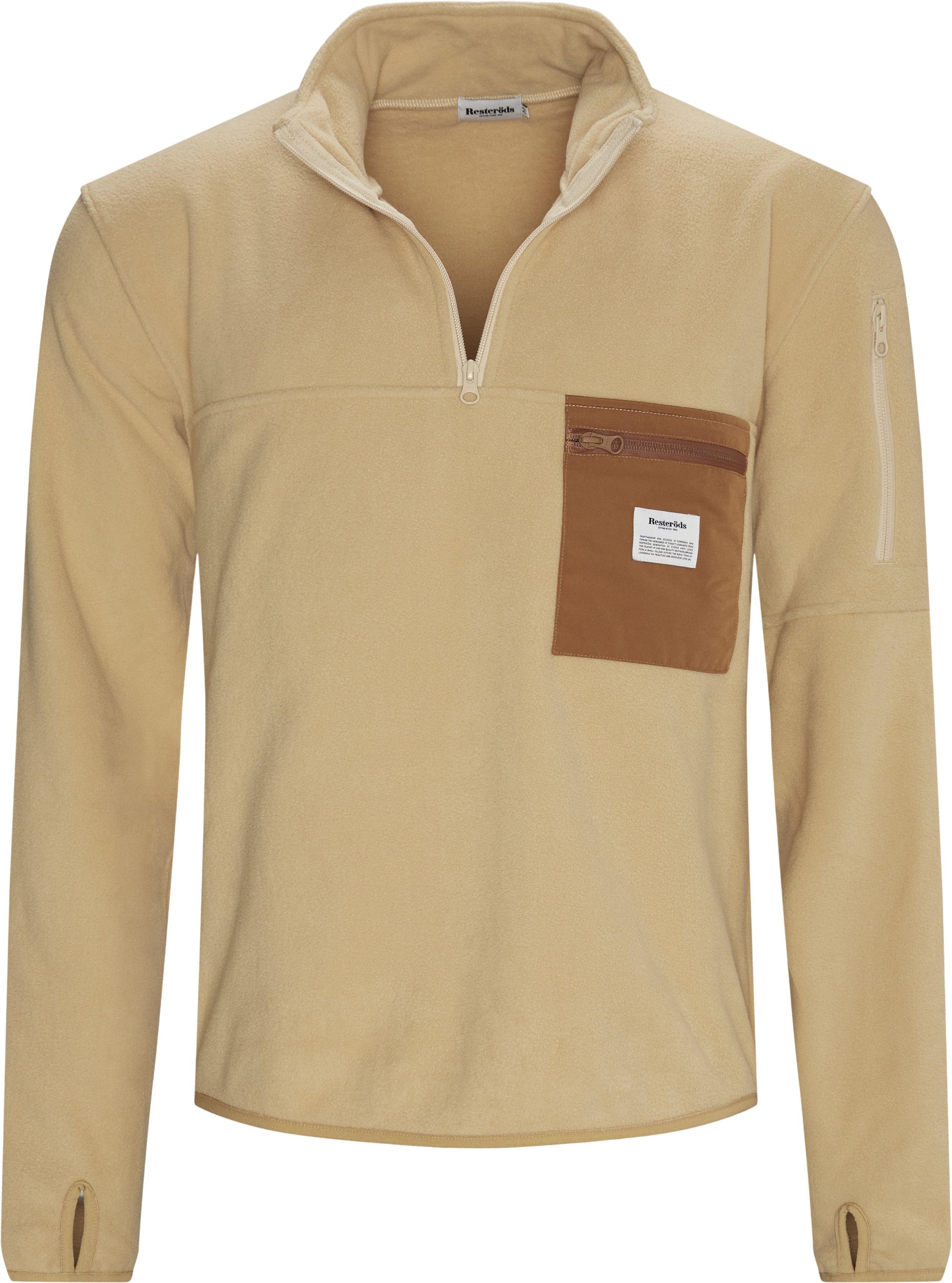 Pullover Fleece Anorak - Jackets - Regular - Sand