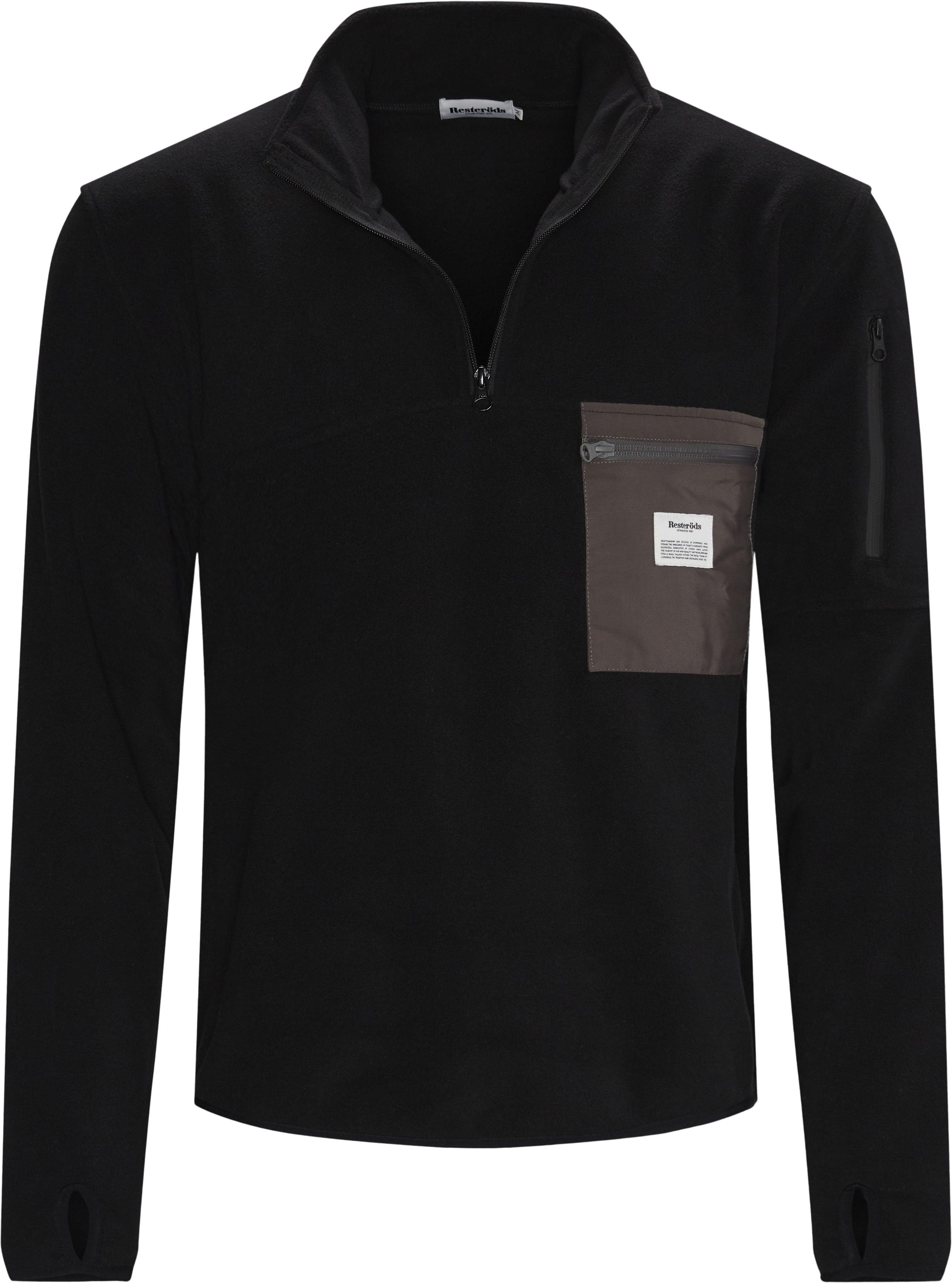Pullover Fleece Anorak - Jackets - Regular - Black