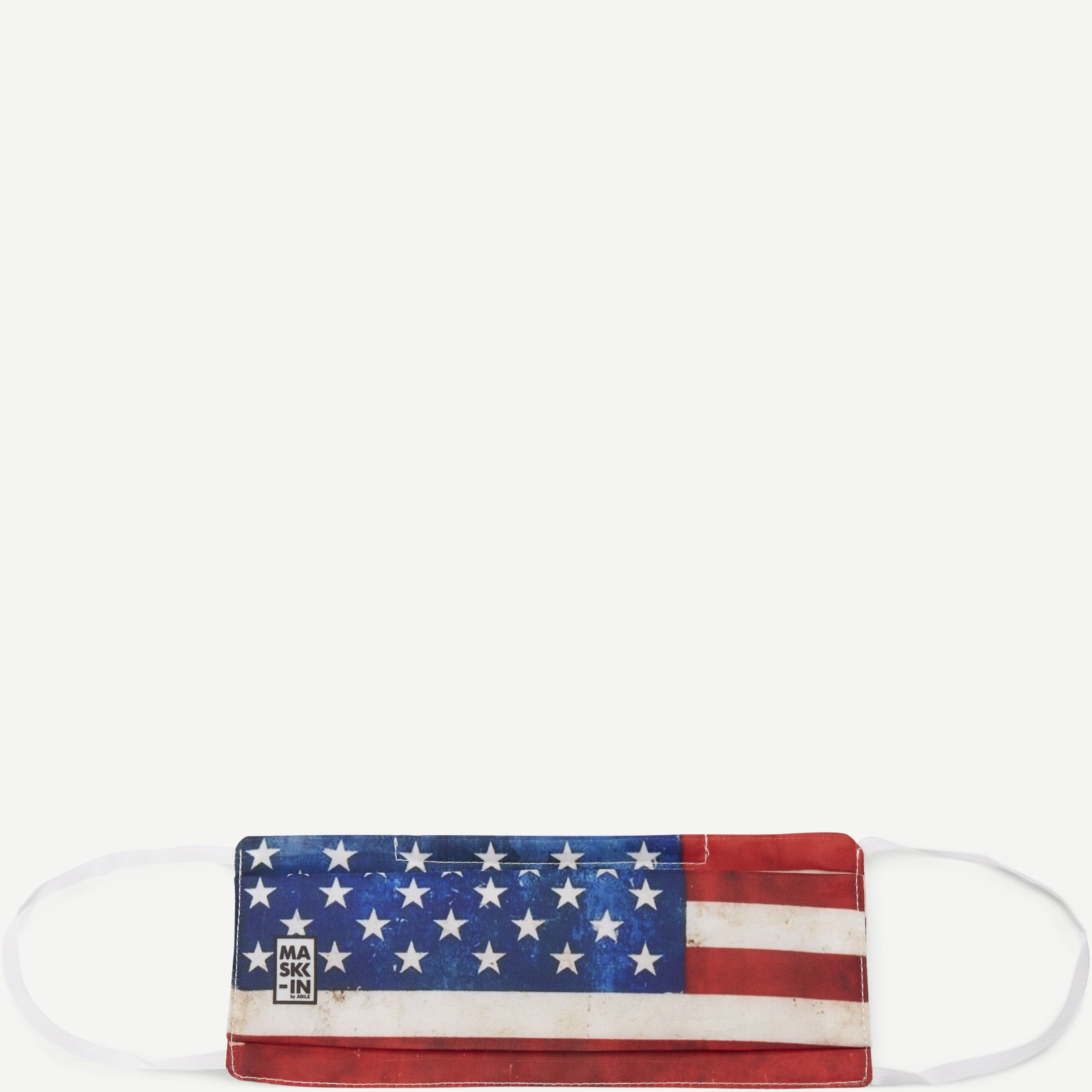 USA Face Mask - Accessories - Rød