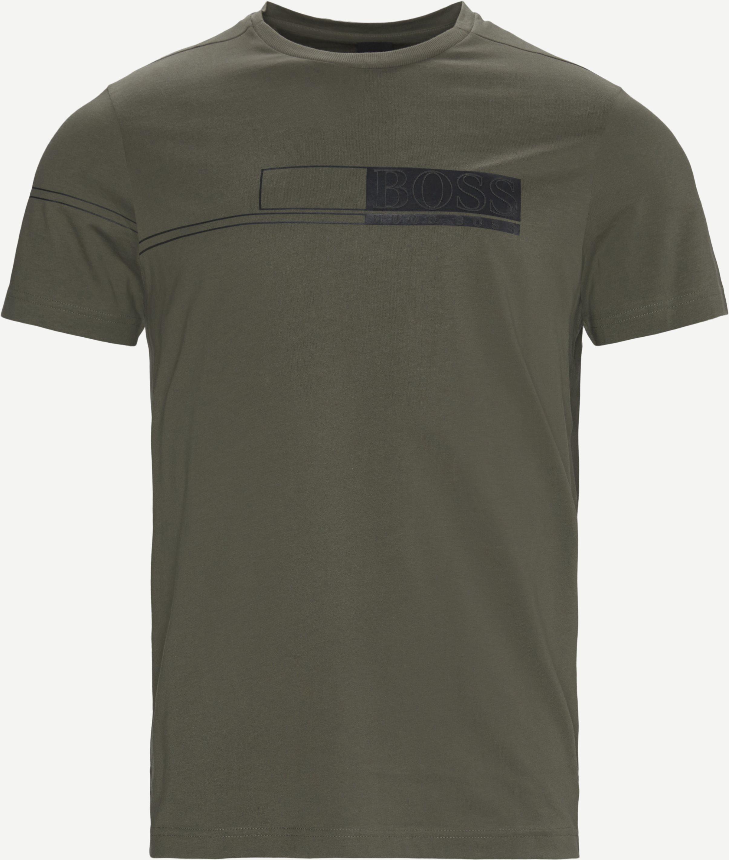 Tee 1 T-shirt - T-shirts - Regular - Grön