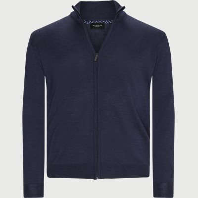 Merino Embr. Cardigan Regular | Merino Embr. Cardigan | Denim