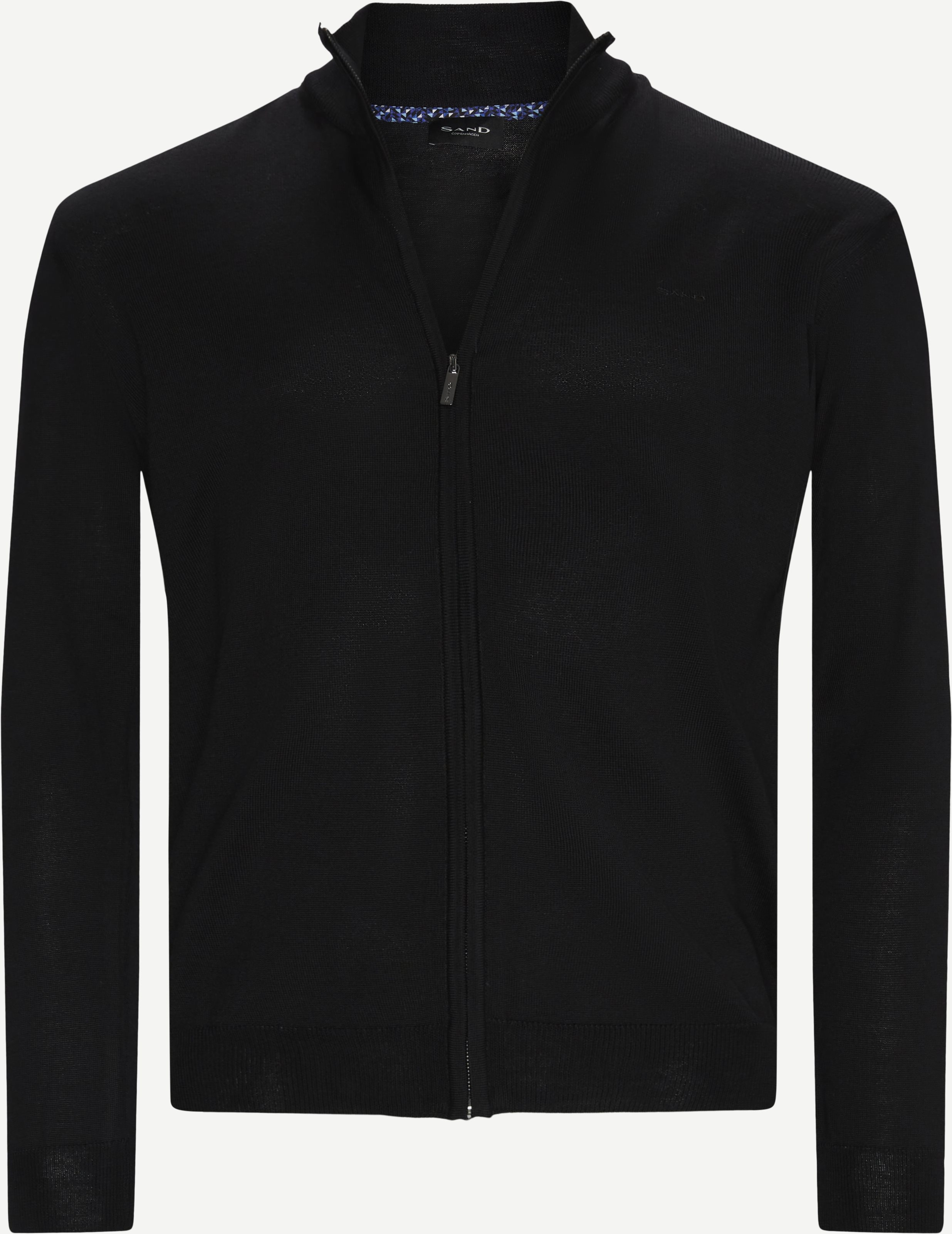 Merino Embr. Cardigan - Knitwear - Regular - Black