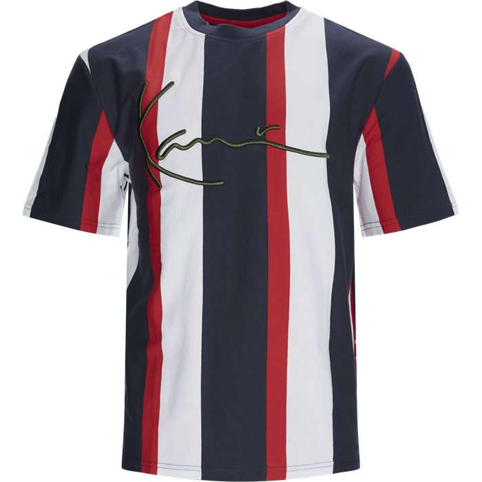 SIGNATURE STRIPE Tee - T-shirts - Regular - Rød