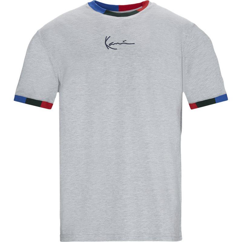 karl kani – Karl kani signature ringer tee t-shirts grå fra quint.dk