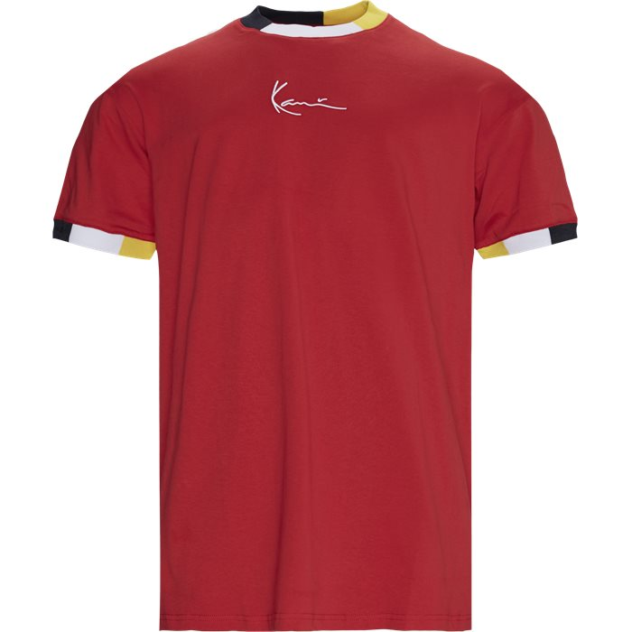 SIGNATURE RINGER Tee - T-shirts - Regular - Rød
