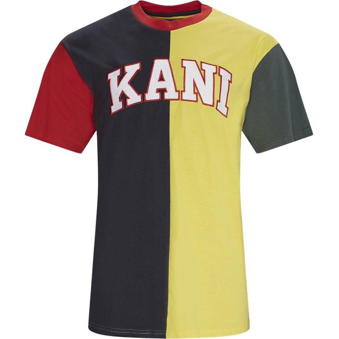 COLLEGE BLOCK Tee - T-shirts - Regular - Blå