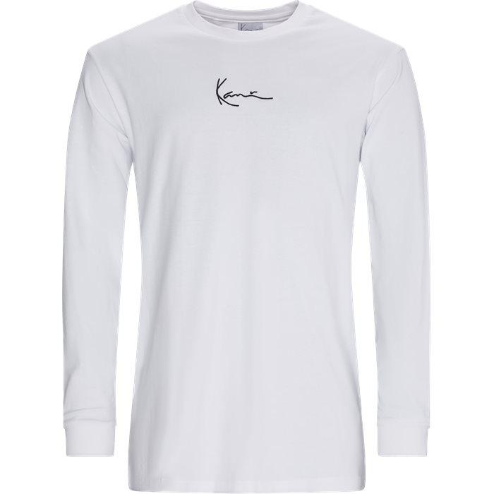 SMALL SIGNATURE Langærmet Tee - T-shirts - Regular - Hvid
