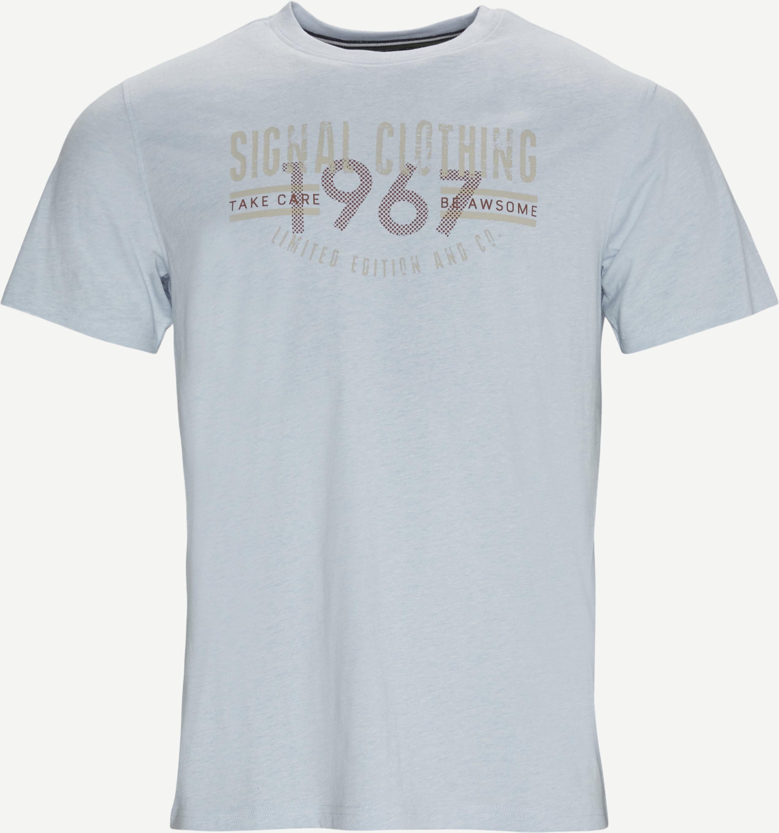 Laban Logo T-shirt - T-shirts - Regular fit - Blå