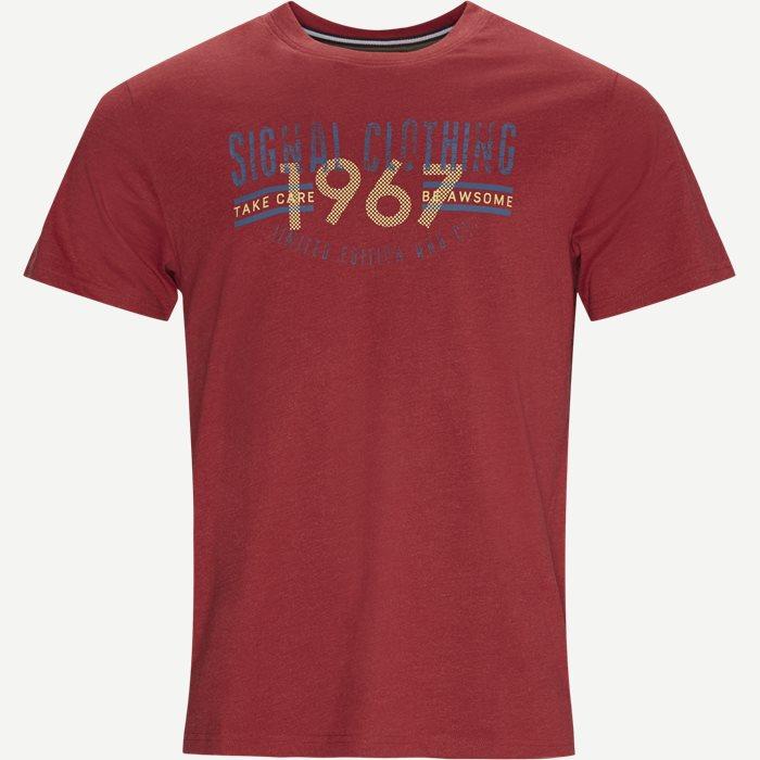 T-shirts - Regular - Red