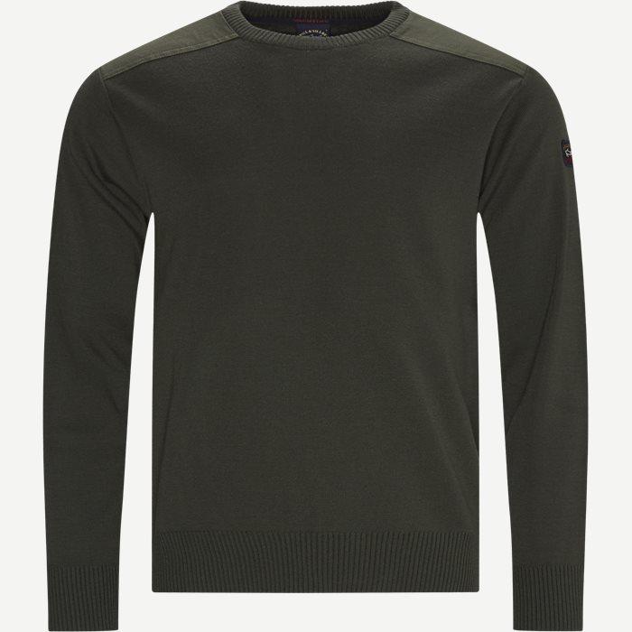 Logo Sweater - Strik - Regular - Army