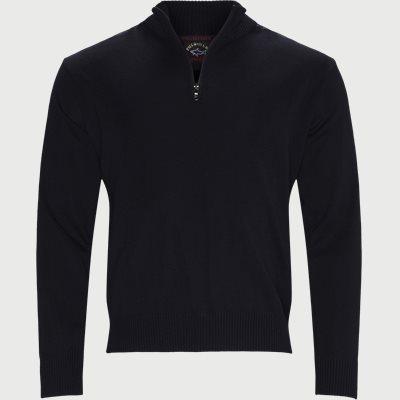 Half-Zip Logo Sweater Regular | Half-Zip Logo Sweater | Blå